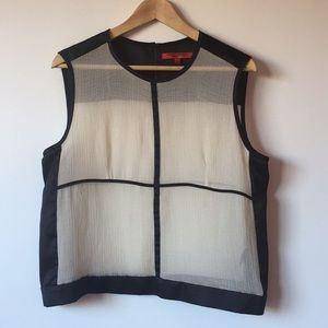 Narciso Rodriguez by Design Nation Sheer Top
